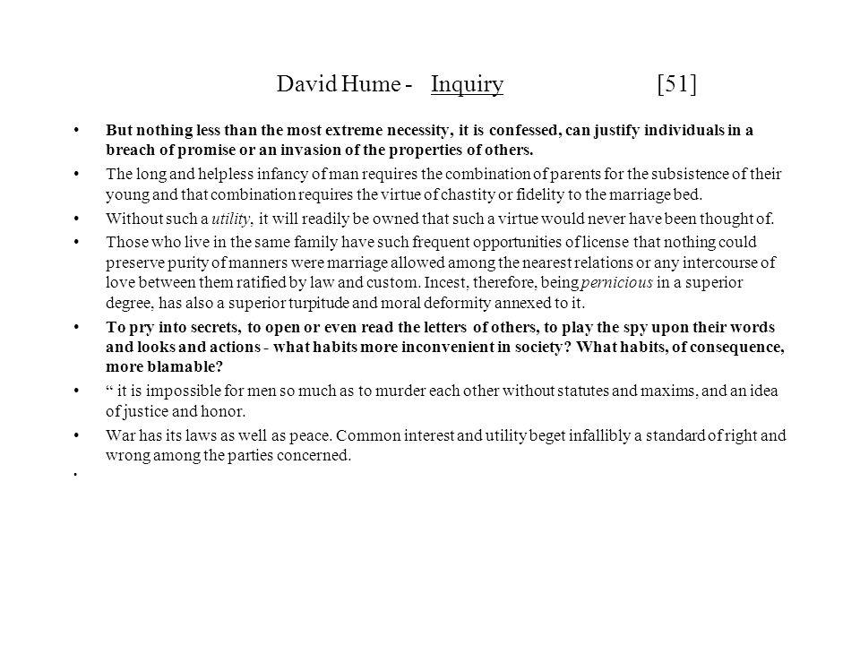 David Hume - Inquiry [51]